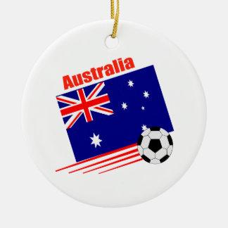 オーストラリアのサッカーチーム セラミックオーナメント
