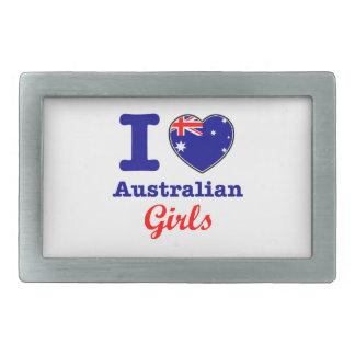 オーストラリアのデザイン 長方形ベルトバックル
