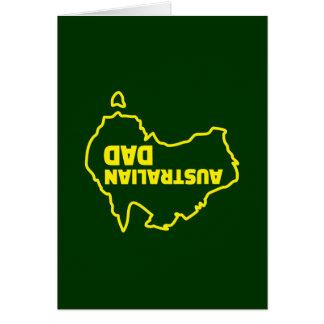 オーストラリアのパパ-逆さまの冗談 カード