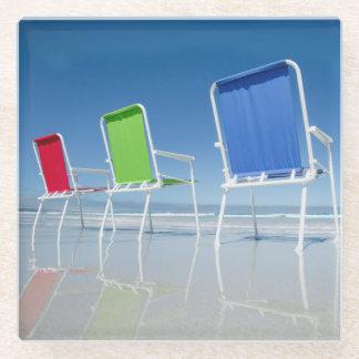 オーストラリアのビーチチェア ガラスコースター