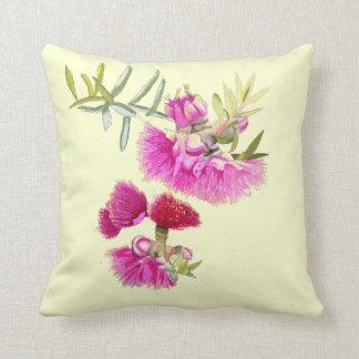 オーストラリアのピンクのGumnutの花の野生の花の枕 クッション