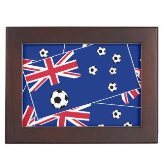 オーストラリアのフラグフットボールのサッカー ジュエリーボックス