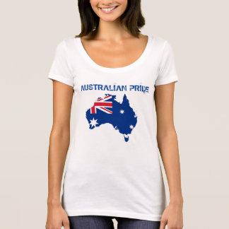 オーストラリアのプライドの旗のオーストラリアの女性のTシャツ Tシャツ