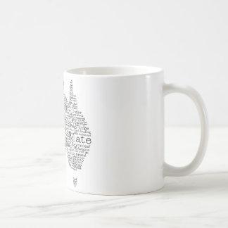 オーストラリアの俗語の地図 コーヒーマグカップ