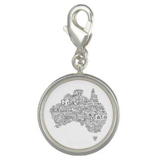 オーストラリアの俗語の地図 チャーム