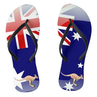 オーストラリアの光沢のある旗 ビーチサンダル