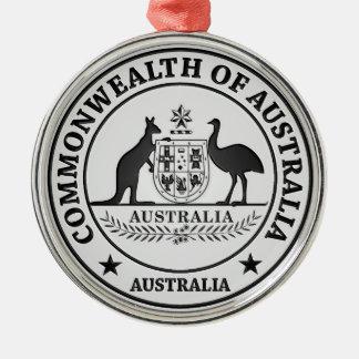 オーストラリアの円形の紋章 メタルオーナメント
