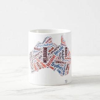 オーストラリアの単語の芸術 コーヒーマグカップ