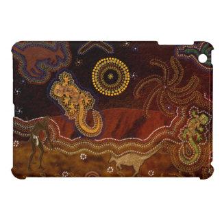 オーストラリアの原生のDreamtimeの芸術のギフト iPad Mini カバー
