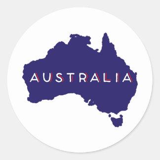 オーストラリアの国のシルエット ラウンドシール