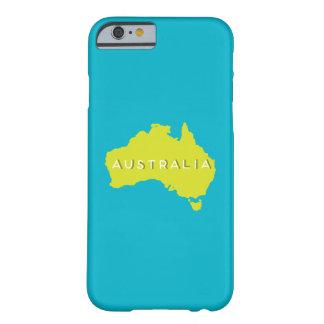 オーストラリアの国のシルエット BARELY THERE iPhone 6 ケース