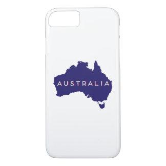 オーストラリアの国のシルエット iPhone 8/7ケース
