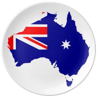 オーストラリアの国 磁器プレート
