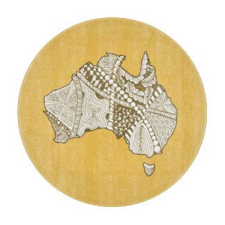 オーストラリアの地図の落書きの芸術 カッティングボード