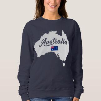オーストラリアの地図 スウェットシャツ