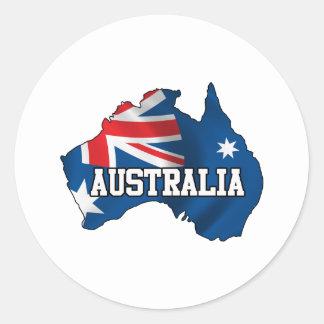 オーストラリアの地図 ラウンドシール
