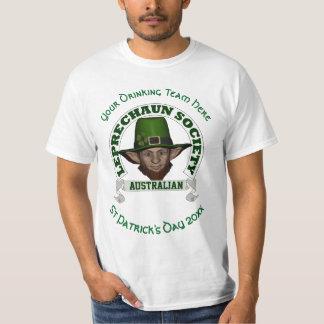 オーストラリアの小妖精のカスタムなセントパトリックの日 Tシャツ