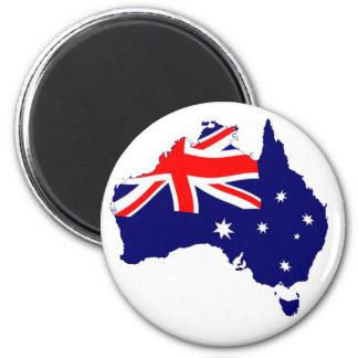 オーストラリアの形の旗 マグネット