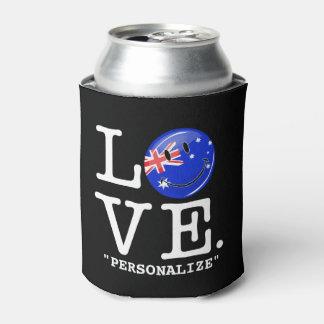 オーストラリアの微笑の旗からの愛 缶クーラー