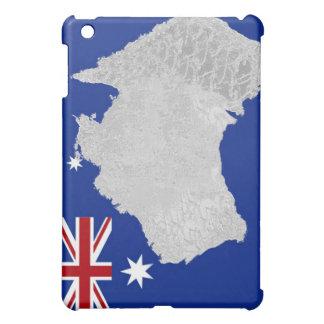 オーストラリアの旗およびシルエットのiPadの場合 iPad Mini カバー