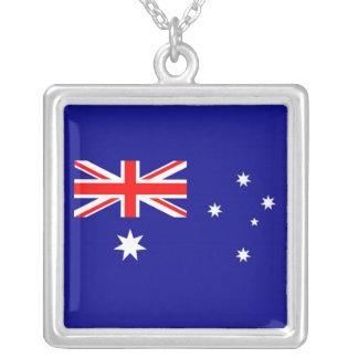 オーストラリアの旗が付いているエレガントなネックレス シルバープレートネックレス