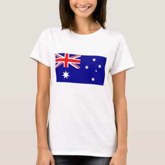オーストラリアの旗が付いている女性のTシャツ Tシャツ