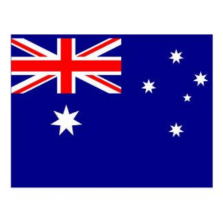 オーストラリアの旗が付いている郵便はがき ポストカード