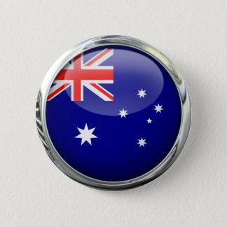 オーストラリアの旗のガラス玉 5.7CM 丸型バッジ