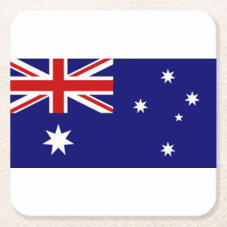 オーストラリアの旗のコースター スクエアペーパーコースター