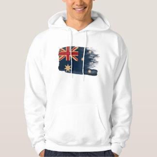 オーストラリアの旗のフード付きスウェットシャツ パーカ