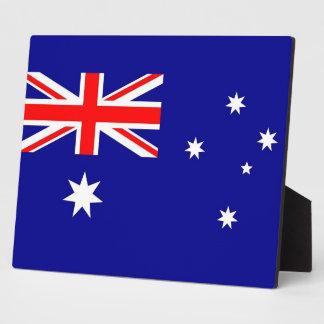 オーストラリアの旗のプラク フォトプラーク
