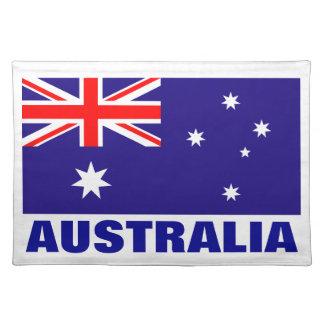 オーストラリアの旗のランチョンマット|のオーストラリアのプライドのデザイン ランチョンマット