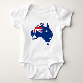 オーストラリアの旗の地図 ベビーボディスーツ