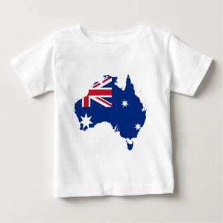 オーストラリアの旗の地図 ベビーTシャツ