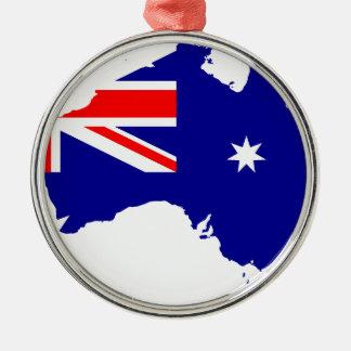 オーストラリアの旗の地図 メタルオーナメント
