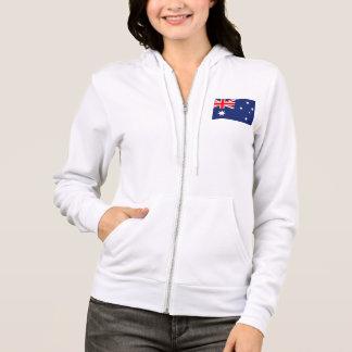 オーストラリアの旗の女性のファスナーを絞めるフード付きスウェットシャツ パーカ