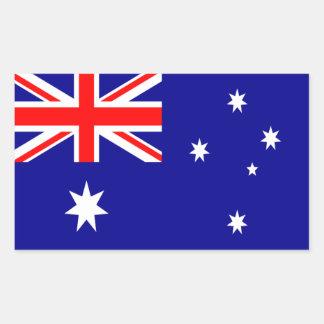 オーストラリアの旗の長方形のステッカー 長方形シール
