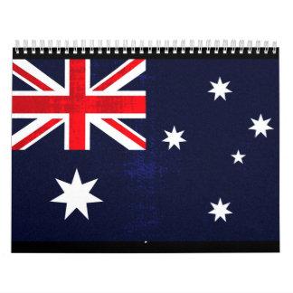 オーストラリアの旗 カレンダー