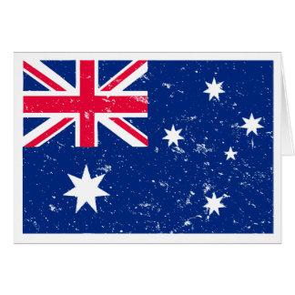 オーストラリアの旗 カード