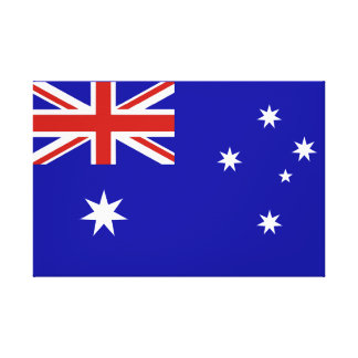 オーストラリアの旗 キャンバスプリント