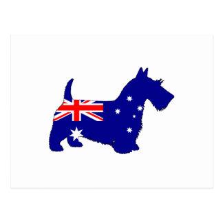 オーストラリアの旗-スコットランドテリア ポストカード