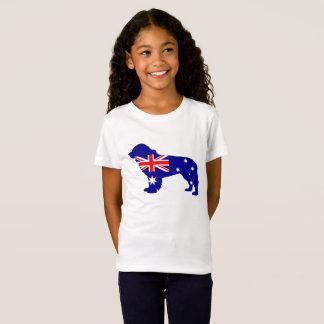 オーストラリアの旗-ニューファウンドランド犬 Tシャツ