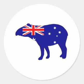 オーストラリアの旗-バク ラウンドシール