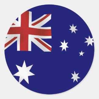オーストラリアの旗 ラウンドシール