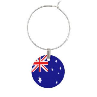 オーストラリアの旗 ワインチャーム