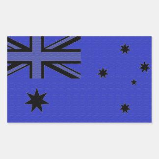 オーストラリアの旗 長方形シール