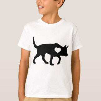 オーストラリアの牛犬のハートの子供のTシャツ Tシャツ