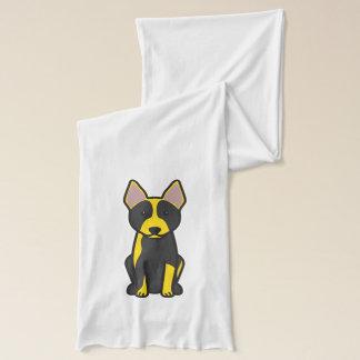オーストラリアの牛犬の漫画 スカーフ