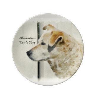 オーストラリアの牛犬の磁器皿 磁器プレート