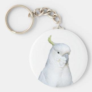 オーストラリアの白いオウムKeychain キーホルダー